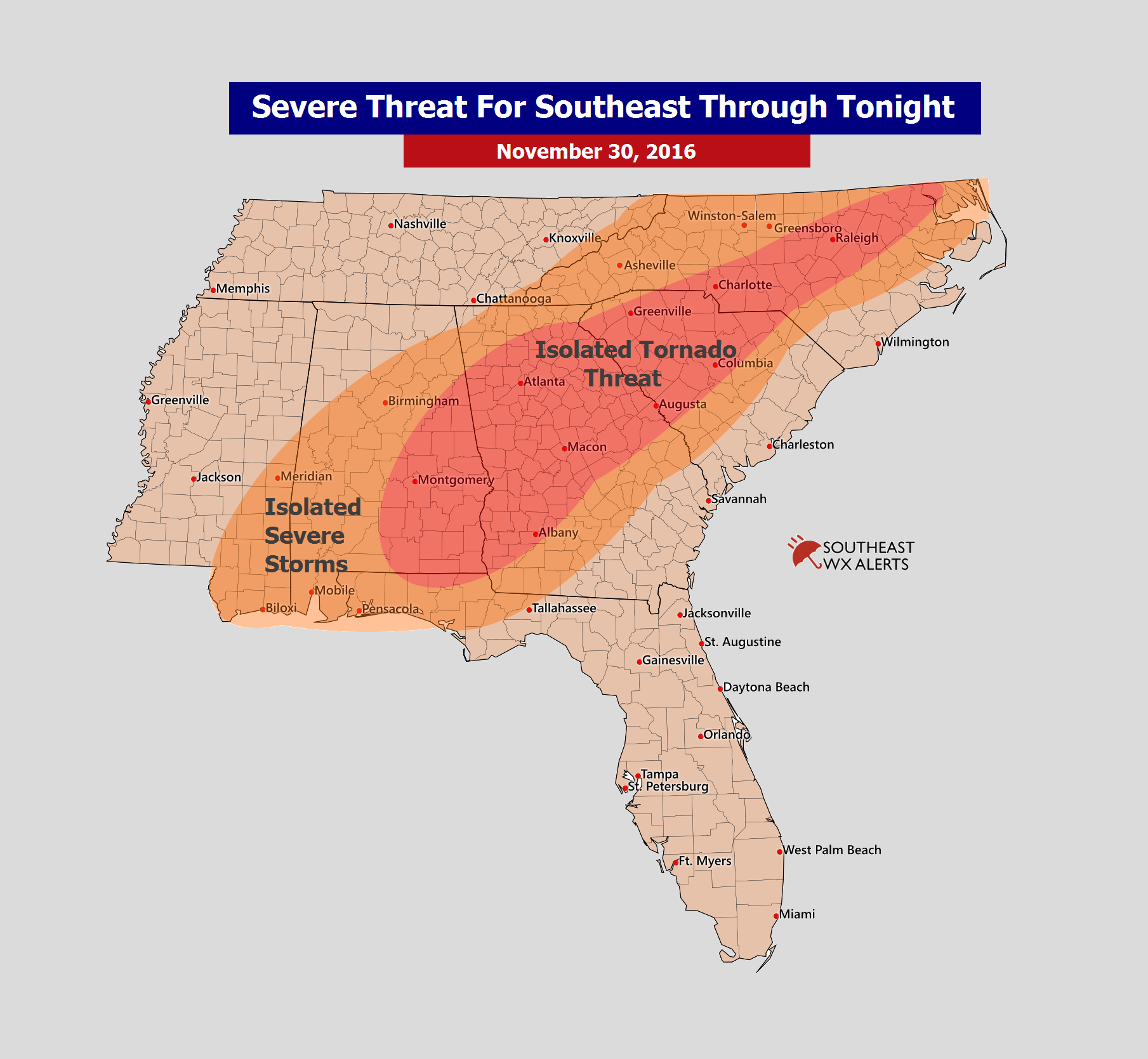Southeast Weather Alerts Example Maps | SouthEastWxAlerts